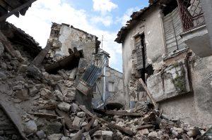 בית לאחר רעידת אדמה