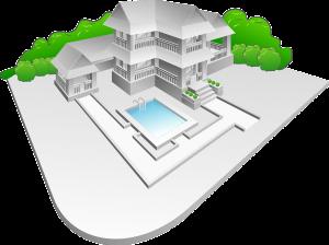 בית מדומה לפני בנייה
